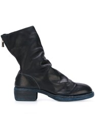 Guidi Rear Zip Boots Blue