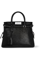 Maison Martin Margiela 5Ac Medium Glittered Leather Tote Black