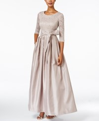Jessica Howard Lace A Line Gown Taupe