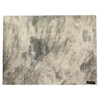 Chilewich Cowhide Rectangle Placemat Grey