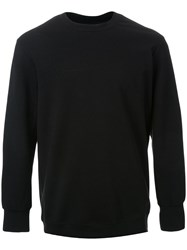 Cityshop Side Zip Detail Sweatshirt Black