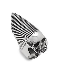 King Baby Studio Sterling Silver Skull Ring