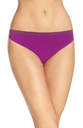 Calvin Klein Women's 'Pure' Seamless Thong Bold Violet