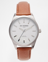 Ben Sherman Brown Leather Strap Watch Wb007br