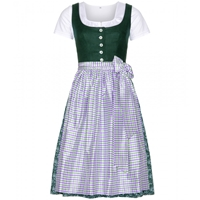 Mytheresa.Com Exclusive Barbel Dirndl With Grete Blouse And Printed Apron Grun Weiss Violett