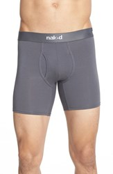 Men's Naked 'Essential' Stretch Cotton Boxer Briefs 2 Pack