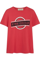 Etre Cecile Printed Cotton Jersey T Shirt