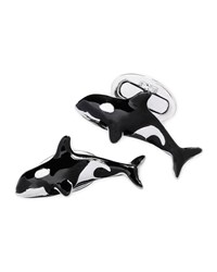 Jan Leslie Orca Cuff Links Men's Silver