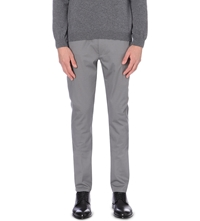 Hugo Heldor Cotton Twill Trousers Nickel