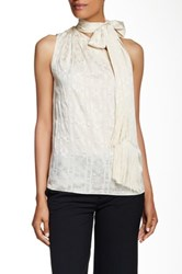 Rachel Zoe Erica One Shoulder Silk Blouse White