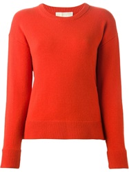 Michael Michael Kors Crew Neck Sweater Red
