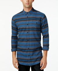 Ezekiel Men's Long Sleeve Sanders Stripe Shirt Heather Charcoal