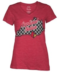 Royce Apparel Inc Women's Louisville Cardinals State T Shirt Red