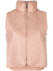 See By Chloe Big Bisou Lightweight Puffer Gilet Nude Neutrals