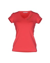 Baci And Abbracci Topwear T Shirts Women Coral