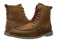 Dockers Evanston Tan Oiled Tumbled Full Grain Men's Lace Up Boots Brown
