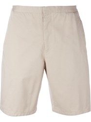 Versace Buckled Chino Shorts Nude And Neutrals