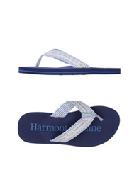 Harmont And Blaine Thong Sandals Sky Blue