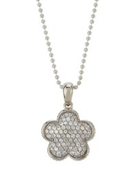 Lagos 18Mm Pave White Topaz Floral Pendant Necklace