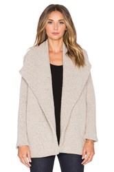 James Perse Open Drape Cardigan Tan