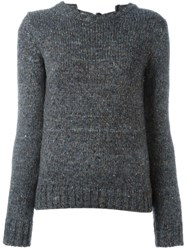 Nao21 Back Tie Jumper Grey
