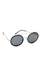 Wildfox Couture Winona Sunglasses Silver Black