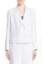 Nordstrom 'Amelia' Double Breasted Jacket White