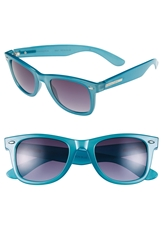 Bcbgmaxazria 51Mm Retro Sunglasses Blue Neon