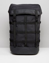 Asos Nylon Backpack With Cage Straps Black