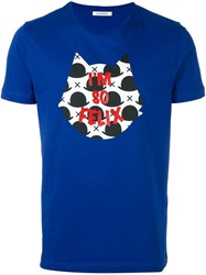 Iceberg Felix The Cat T Shirt Blue