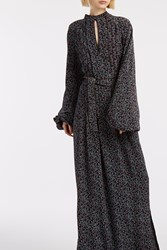 Talitha Florence Flower Maxi Dress Black