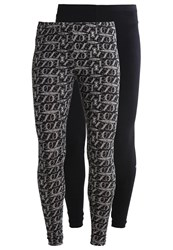 Roxy Babe 2 Pack Leggings True Black Black
