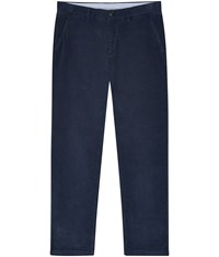 Austin Reed Slim Fit Blue Corduroy Chinos Navy