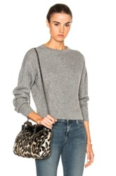 Frame Denim Cropped Sweater In Gray