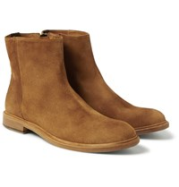 Paul Smith Sullivan Distressed Suede Boots Tan