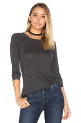 Chaser Destructed Cold Shoulder Tee Charcoal