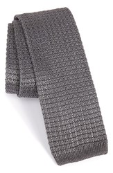 The Tie Bar Men's Knit Silk Grey