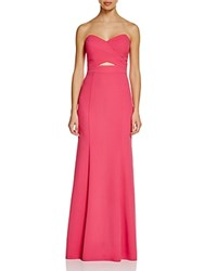 Decode 1.8 Strapless Cutout Gown Pink