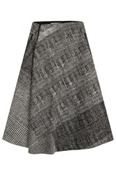 Jason Wu Printed Virgin Wool Skirt Multicolor