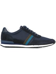 Paul Smith Ps By Striped Detailing Sneakers Blue