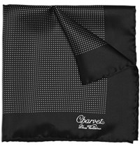 Charvet Polka Dot Silk Pocket Square One