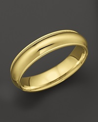 Bloomingdale's Men's 14K Yellow Gold Comfort Feel Milgrain Wedding Band