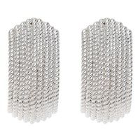 Finesse Textured Clip On Earrings Silver