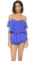 Re Named Sound Off Shoulder Bustier Blue