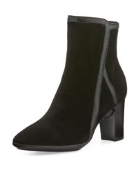 Aquatalia By Marvin K Whitley Weatherproof Suede Bootie Black