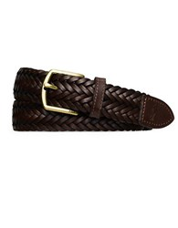 Polo Ralph Lauren Braided Leather Belt Mahogany