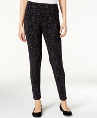 Styleandco. Style Co. Printed Leggings Only At Macy's Deep Black
