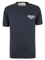 Racing Green Freud Button Through Pocket T Shirt Navy