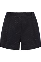 3.1 Phillip Lim Metallic Woven Shorts Midnight Blue