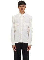 Wales Bonner King Utility Silk Shirt Black